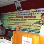 Dr. Mihir Kanti Majumder, Hon'ble Secretary, Ministry of Local Government Rural development and Cooperatives giving speech on a National level experience sharing workshop organized by NRDS & BARD