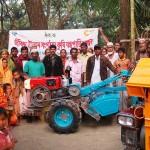 Distribution of power tiller and close drum thresher to the Village Livelihood Organization